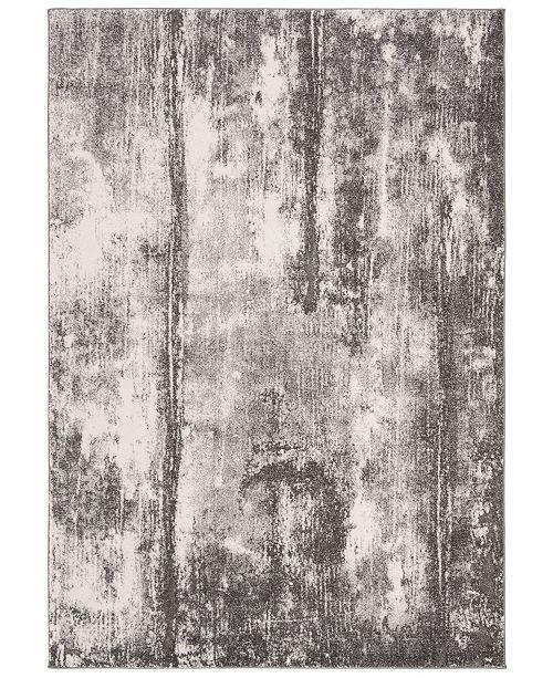 "Safavieh Spirit Dark Gray and Ivory 6'7"" x 6'7"" Square Area Rug"