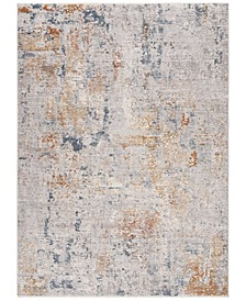 """Winston Grey and Blue 2'2"""" x 8' Runner Area Rug"""