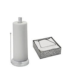 Galvanized Napkin Holder and Paper Towel Holder