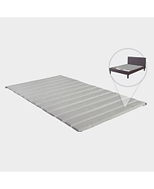 PAYTON, Covered Wooden Bed Covered Slats/Bunkie Board, Full