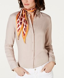 Vince Camuto Silk Feather Kite Scarf