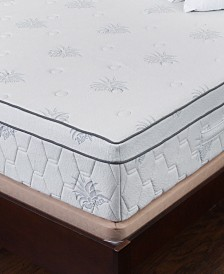 "Om Aloe 13"" Medium Firm Mattress - King, Quick Ship, Mattress in a Box"