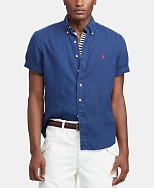 Polo Ralph Lauren Men's Big & Tall Classic Fit Linen Shirt