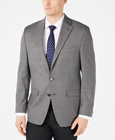 Lauren Ralph Lauren Men's Classic-Fit UltraFlex Stretch Gray/Black Windowpane Sport Coat