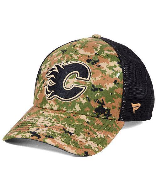 2e3fd4aba ... Authentic NHL Headwear Calgary Flames Military Appreciation Speed Flex  Stretch Fitted Cap ...