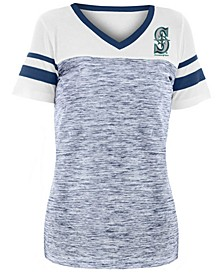 Women's Seattle Mariners Space Dye Back T-Shirt