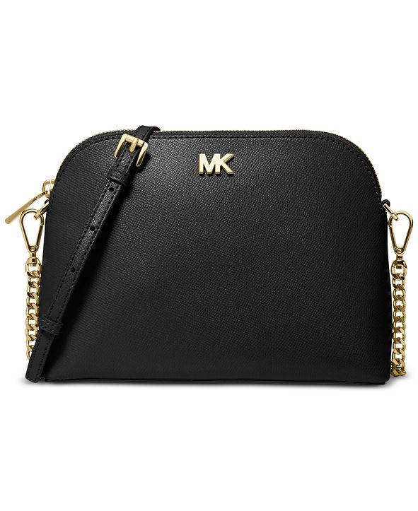 Michael Kors Crossgrain Leather Dome Crossbody