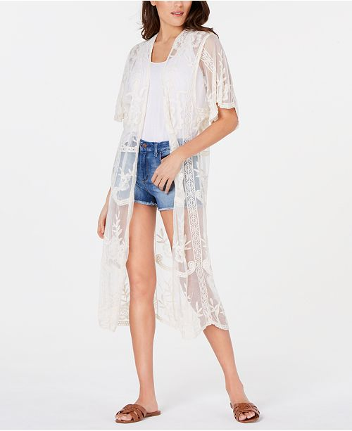 INC International Concepts INC Lace Long Kimono, Created for Macy's