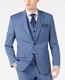 Lauren Ralph Lauren Men's Classic-Fit UltraFlex Stretch Light Blue Tic Suit Jacket
