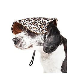 Pet Life 'Cheetah Bonita' Cheetah Patterned UV Protectant Adjustable Dog Hat Cap