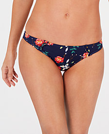 Roxy Juniors' Printed Ruffled Bikini Bottoms