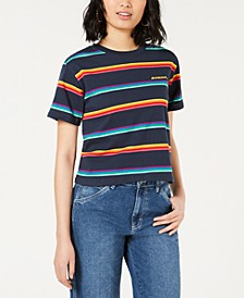 Cotton Rainbow Striped Tomboy T-Shirt