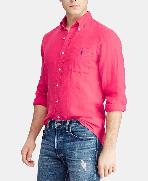 428c7082f Polo Ralph Lauren Men s Big   Tall Classic Fit Linen Shirt   Reviews ...