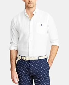 Polo Ralph Lauren Men's Big & Tall Classic Fit Linen Shirt