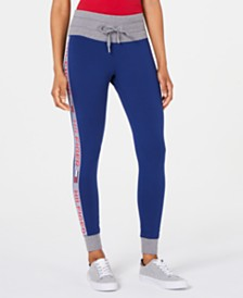 Tommy Hilfiger Sport Logo-Stripe Leggings