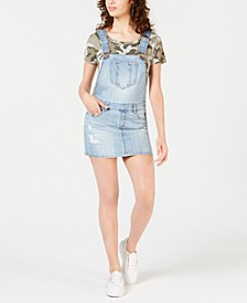 Juniors' Ripped Denim Skirtall