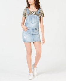 Dollhouse Juniors' Ripped Denim Skirtall
