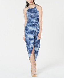 Planet Gold  Juniors' Cutaway Wrap Dress