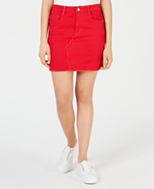 Dollhouse Juniors' Colored Denim Skirt