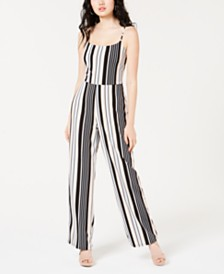 Material Girl Juniors' Wide-Leg Jumpsuit, Created for Macy's