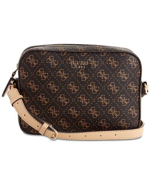 950e105fcf002 GUESS Kamryn Logo Crossbody - Handbags   Accessories - Macy s