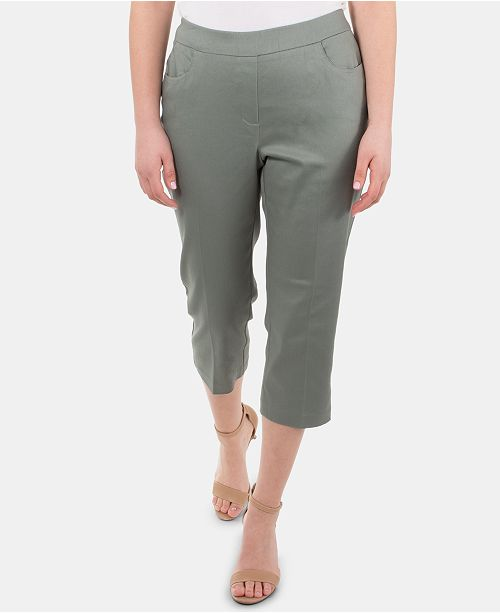 NY Collection Pull-On Capri Pants