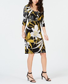 Thalia Sodi Printed Sheath Dress, Created for Macy's
