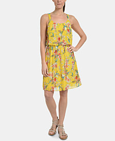 NY Collection Petite Allover Pleated Popover Dress