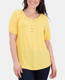 NY Collection Short-Sleeve Top