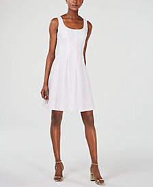 Pappagallo Sleeveless Eyelet Fit & Flare Dress