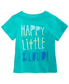 First Impressions Happy & Loud Graphic T-Shirt, Created for Macy's