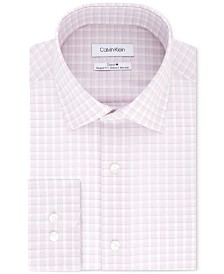 Calvin Klein Steel Regular Fit Non-Iron Performance Check Dress Shirt
