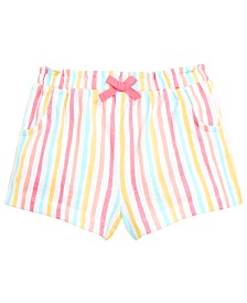 First Impressions Baby Girls Rainbow Stripe Cotton Shorts, Created for Macy's