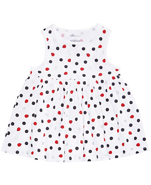 First Impressions Baby Girls Dot-Print Tunic, Created for Macy's