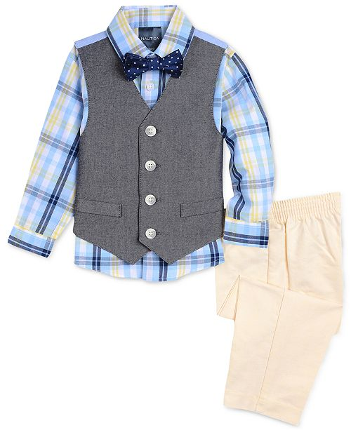 252e947eb ... Nautica Baby Boys 4-Pc. Plaid-Print Shirt