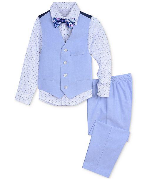 134c1c299 ... Nautica Baby Boys 4-Pc. Shirt, Vest, Pants & Plaid Bowtie ...
