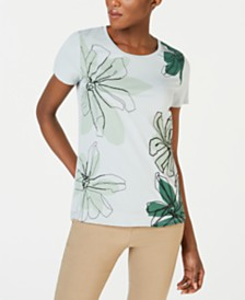 Weekend Max Mara Angio Beaded Placed-Floral Top
