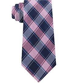 Michael Kors Men's Thin Double Track Check Tie