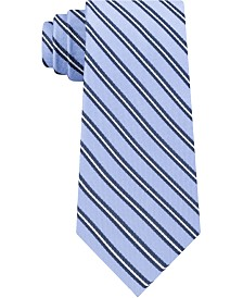 Tommy Hilfiger Men's Tricolor Stripe Silk Tie