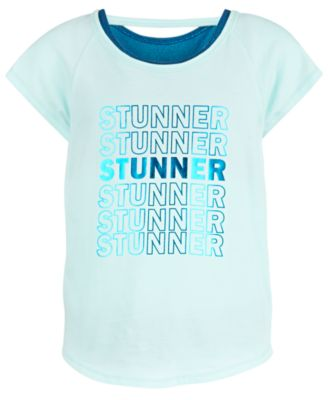 Big Girls Stunner-Print Layered-Look T-Shirt, Created for Macy's