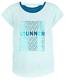 Big Girls Stunner-Print Layered-Look T-Shirt, Created for Macy's