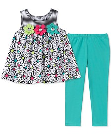 Kids Headquarters Little Girls 2-Pc. Floral-Print Tunic & Leggings Set
