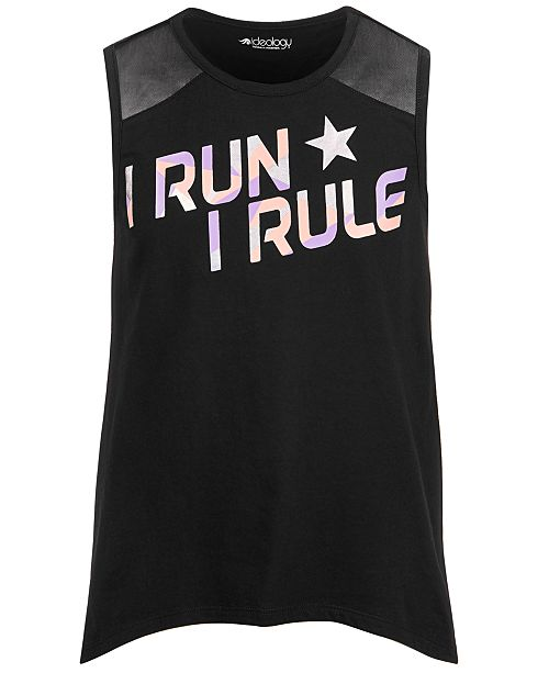 Ideology Big Girls I Run Graphic Tank Top, Created for Macy's
