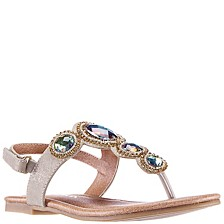 Toddler, Little, & Big Girls Kellie Bejewled Sandal