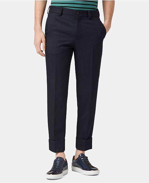 Hugo Boss BOSS Men's Relaxed Fit Virgin Wool Trousers