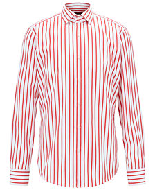 BOSS Men's Striped Cotton Shirt