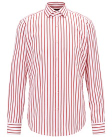 BOSS Men's Striped Cotton Shirt