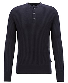 BOSS Men's Slim Fit Ribbed Sweater
