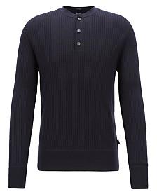BOSS Men's Slim Fit Ribbed Sweater