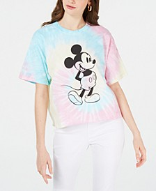 Juniors' Cotton Mickey Mouse Tie-Dyed T-Shirt